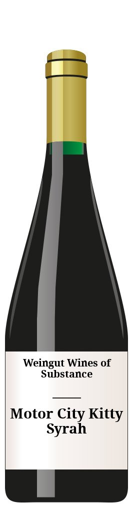 K-Vintners Motor City Kitty Syrah 2015 2015 Wein Weingut Wines of Substance